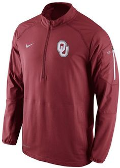 Rally up unrivaled team gear with this men's Oklahoma Sooners pullover jacket from Nike. PRODUCT FEATURES Elastic cuffs 3-pocket Long sleeves Polyester Machine wash Imported