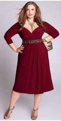Loren Dress - Plus Size Clothing...I (Staci) have this in black,but not from this maker and love it.