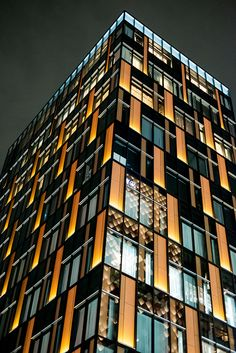 light panels on facade Ginza, Tokyo, Japan