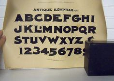 1899 Antique Lettering Alphabet Letters.