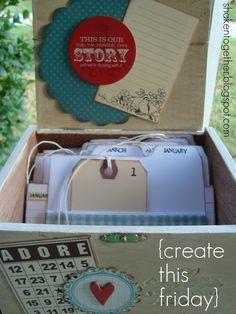 @Chelsey Hamilton cigar box turned coupon box or recipe box