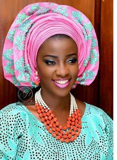 Attaché foulards Gélé Headwrap ~African fashion, Ankara, kitenge, African women dresses, African prints, Braids, Nigerian wedding, Ghanaian fashion, African wedding ~DKK