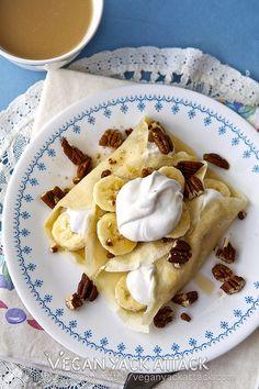 Banana Coconut Cream Crepes by Yack_Attack, via Flickr