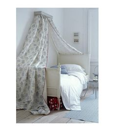 bed curtain, even make with room darkening curtains for those day sleepers.