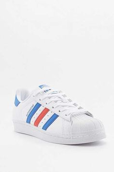 half off 13548 17b70 Now I m stuck with plain white ones, but they can t make me wear them! adidas  Superstar White Red and Blue ...