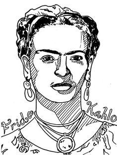 Image result for frida kahlo adult coloring pages