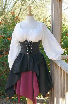 Pirate Dress Renaissance Outfit Waist Cincher by ItsNotPajamas, $158.00