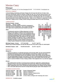 Personal Skills Examples For Resume A Resume And Cv Sample That Has A Unique Crossword Feature That .