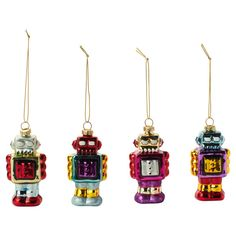 Robot Ornaments are a must.