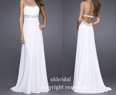 open back prom dress backless prom dress backless by okbridal, $136.00