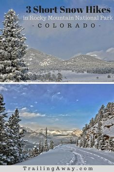Looking for short snow hikes in Rocky Mountain National Park  These three  trails are great a64b6d9ea7e4