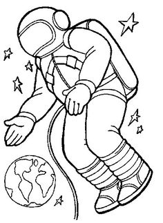 printable coloring pages Space travel Kids-n-Fun