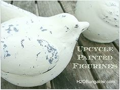 upcycle painted figurines, diy home crafts, repurposing upcycling, Update your old figurines with simple step by step instructions