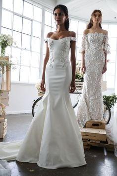 Brautkleider-Trends 2018: DAS sind die 100 schönsten Kleider! : Fotoalbum - gofeminin Fashion Week 2018, Bridal Fashion Week, Trends 2018, Marchesa Bridal, Best Wedding Dresses, Bridal Style, Bridal Gowns, Wedding Day, Culture