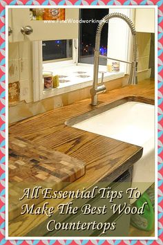 Finishing a DIY wood countertop is simpler than you think and costs a fraction of what a fully finished countertop.