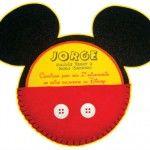 25 convites do Mickey Mouse (lindos, para você se inspirar e fazer!)