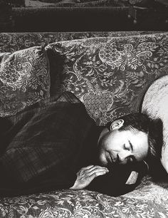 Robert Downey Jr crashing on the sofa...we'll just let him stay there.