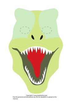 Printable Dinosaur Mask Template - T-Rex version 1