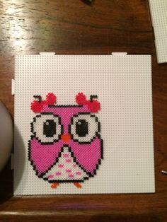 Owl hama beads by Camilla Merstrand