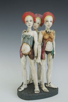 Sally MacDonell_contemporary ceramics_figures_Bath Come and see her work at Newbridge Arts Trail, Bath, UK 7/8 May 2016