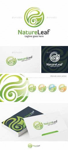 Nature Leaf  Logo Template — Vector EPS #leaves #green • Available here → https://graphicriver.net/item/nature-leaf-logo-template/17109323?ref=pxcr