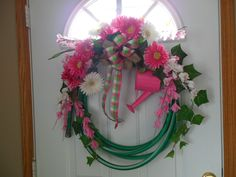 Pink/green Hose Wreath