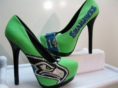 seattle seahawks high heels | 12 Images That Show How Pumped Seattle Is About The Hawks
