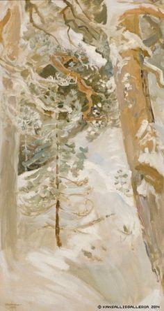lovely, serene yet full of mystery Gallen-Kallela, Akseli Snowscape, 1900 Winter Landscape, Landscape Art, Landscape Paintings, Nordic Art, Scandinavian Art, National Gallery, Winter Painting, Canadian Art, Beautiful Paintings