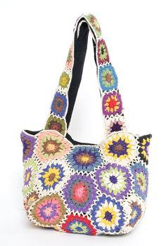 crochet motif purse