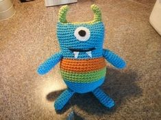 Kids Stuffed Crochet Monster .  Make a food plushie in under 120 minutes by crocheting with needle, stuffing, and hook. Inspired by domo kun, domo kun, and domo kun. Creation posted by VaNNaBaBy. Difficulty: Simple. Cost: Cheap.