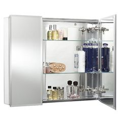 """View the Miseno MMC-101669 Double Door 30"""" X 26"""" Recessed or Surface Mount Medicine Cabinet - Hang N Lock Installation System From the Croydex Collection at FaucetDirect.com."""