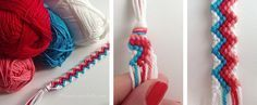 Friday DIY: Knotted Friendship Bracelet by Hamburger Liebe Bracelet Love, Bracelet Fil, Bracelet Making, Jewelry Making, Friendship Bracelets Designs, Bracelet Designs, Pochette Diy, Thread Bracelets, Diy Couture