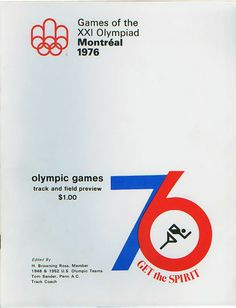 Montreal Olympics Program    Design:  Client:  Date: 1976