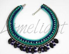 Statement Chain Crochet Necklace