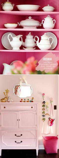 pretty pink cabinets