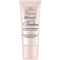 Too Faced : Primed & Poreless Skin Smoothing Face Primer. I'm digging on this stuff. It goes on like smooth, liquid powder and makes pores look smaller. It's a little pricey, but we'll see if it stays in the lineup after it's gone. Makeup Primer, Face Primer, Makeup Tips, Foundation Primer, Makeup Ideas, Sephora, Primers, All Things Beauty, Beauty Make Up