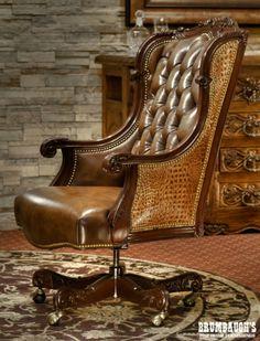 Oakley Alligator Executive Swivel | Brumbaughs Fine Home Furnishings