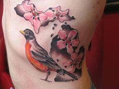State of Michigan Apple Blossom Tattoo - ̗̀ ριитєяєѕт @FaithBird ❥❥❥