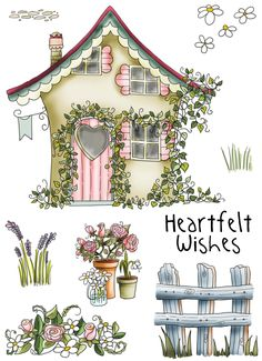 Country Cottage clear stamp set for papercrafting http://www.polkadoodles.co.uk/product_info.php?products_id=5555