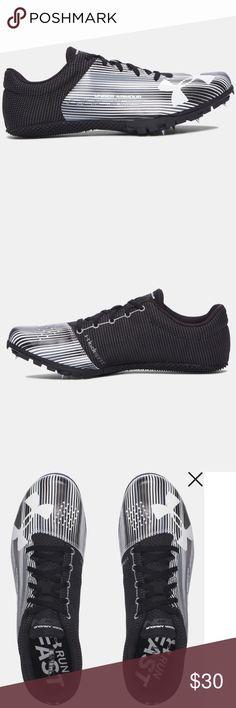 Under Armour Women/'s Kick Sprint Track Spikes Sz 11 NEW 1297114-100 Black//White
