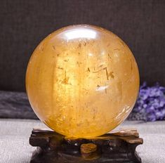This listing is for Optical Calcite Sphere. Calcite Crystal, Crystal Sphere, Honey Calcite, This Or That Questions, Gemstones, Orange, Crystals, Hdr, Balls