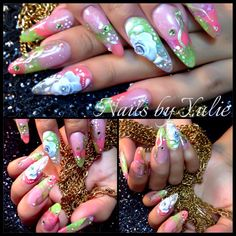 My nails. Sculpted. Summer look
