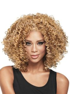 Kinky Curly Wigs, Afro Wigs, Short Curly Hair, Human Hair Wigs, Curly Hair Styles, Natural Hair Styles, Curly Afro, Curly Blonde, Natural Wigs