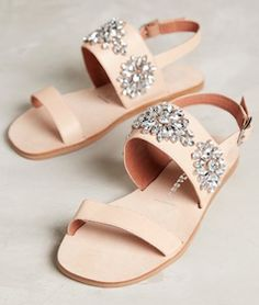 Nude flats with embellishment