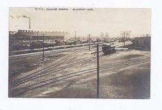 Elkhart in RPPC Real Photo Postcard 1910 N Y C R R Train Yards Pub Inbody | eBay