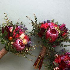 November-Hochzeit bei Willie Smiths Apple Shed # - Modern Protea Wedding, Blush Wedding Flowers, Flower Bouquet Wedding, Bridesmaid Bouquet, Floral Wedding, Bunch Of Flowers, Beautiful Flowers, Farm Girl Flowers, Tattoo Australia