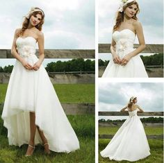 High low wedding gown. @Ryan Sullivan n kristina seegars