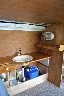 """In order to have any functionality in this camper van of ours, we need storage and a sink. We love having """"everything in its place"""" and so n..."""