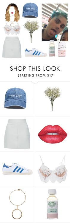 """""""♀+♂"""" by sarahloup ❤ liked on Polyvore featuring Topshop, Lime Crime, adidas Originals, For Love & Lemons, STELLA McCARTNEY, Mario Badescu Skin Care, 5sos, michaelclifford and 5secondsofsummer"""