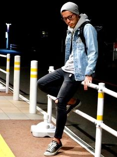 Amazing New clothing Ideas 5982380342 Stylish Mens Fashion, Latest Mens Fashion, Jaket Jeans, Denim Jacket Fashion, Man Dressing Style, Mens Trends, Mens Clothing Styles, Clothing Ideas, Hoodie Outfit